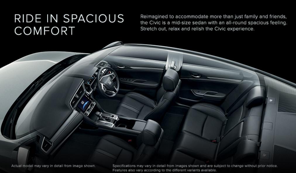 Honda Civic - Ride in Spacious Comfort